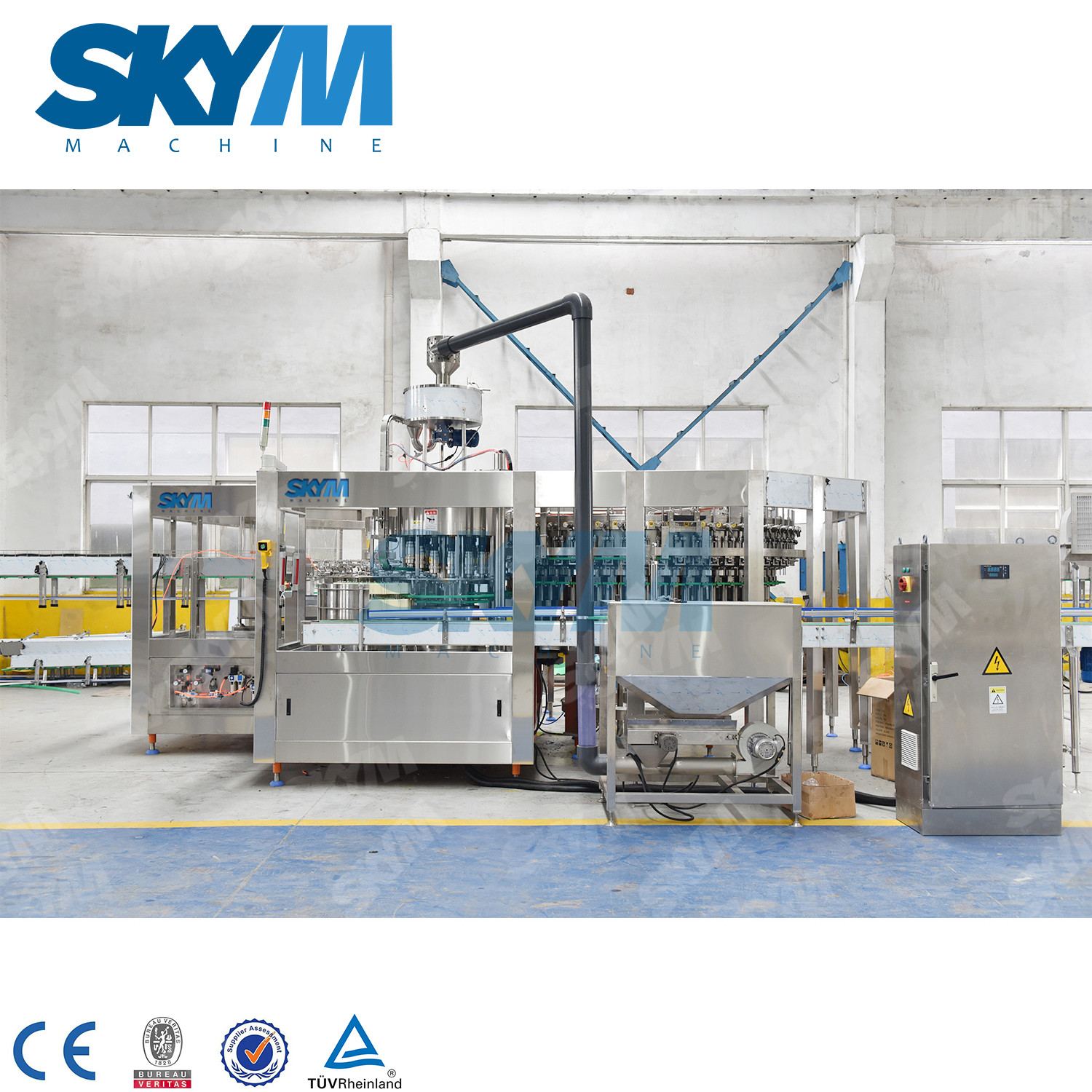 High Speed Filling Machine For Glass Bottle Gas Added Beverage