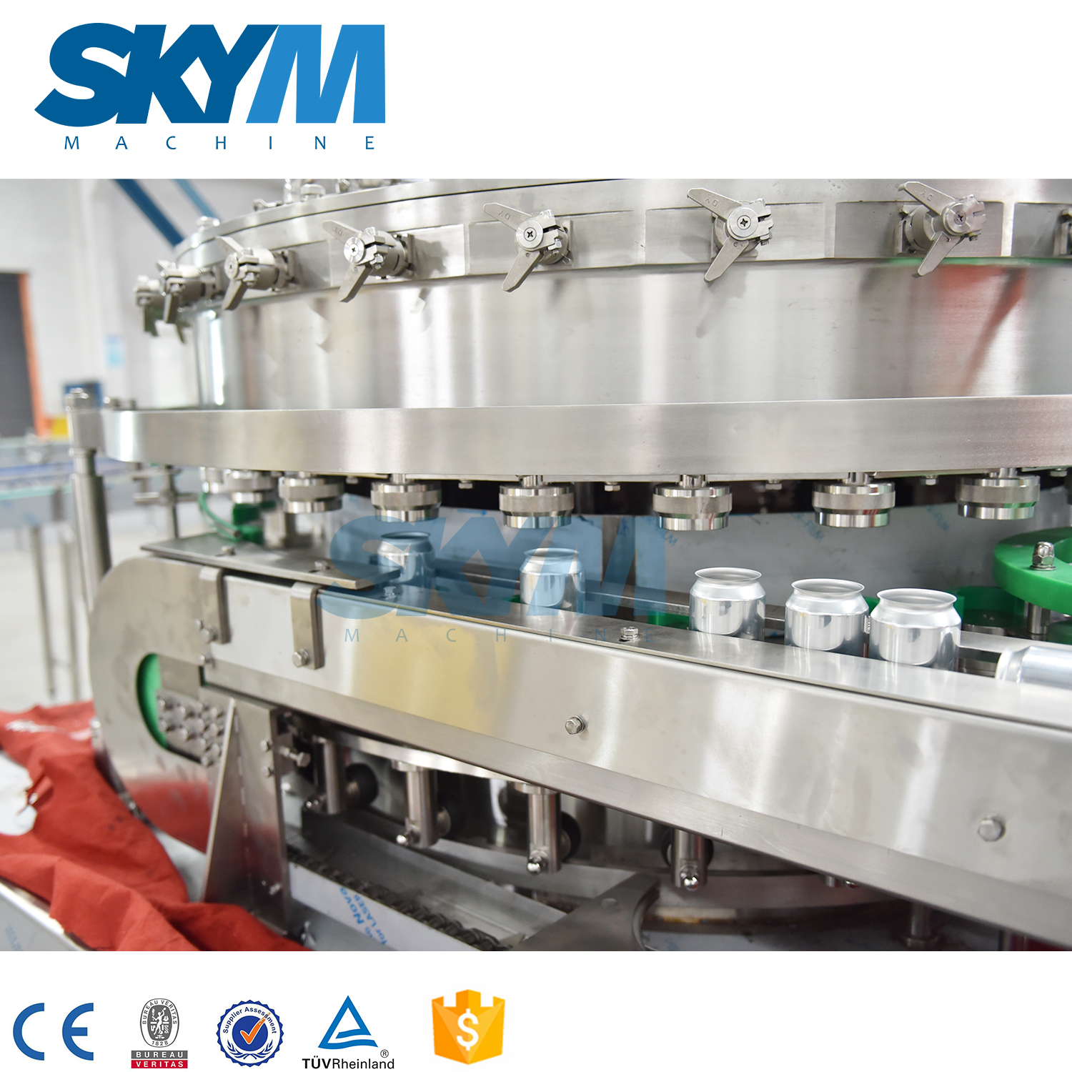 Carbonated Soft Drink/water Can/cola Soft Mixing Filling Packing Machine