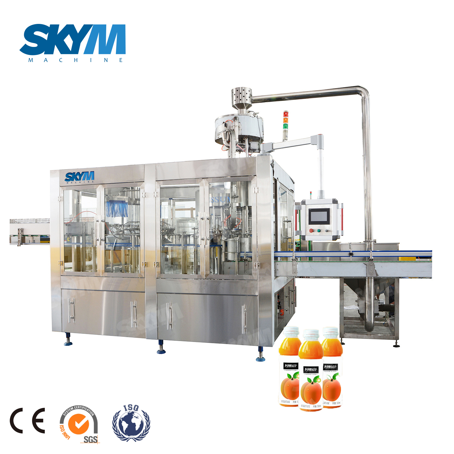 High Speed 10000bph Juice Beverage Drink Filling Production Line